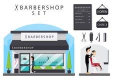 Σύνολο Barbershop Στοκ εικόνες με δικαίωμα ελεύθερης χρήσης