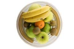 Σύνολο Bawl των διαφορετικών φρούτων στο άσπρο υπόβαθρο Στοκ φωτογραφία με δικαίωμα ελεύθερης χρήσης