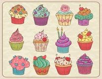 Σύνολο Cupcakes Στοκ Φωτογραφία