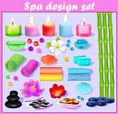 Σύνολο design elements Spa Στοκ φωτογραφία με δικαίωμα ελεύθερης χρήσης