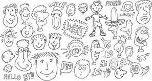 Σύνολο Doodle ανθρώπων Στοκ Φωτογραφία