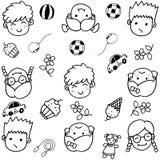 Σύνολο Doodle αντικειμένων από ένα παιδί Στοκ φωτογραφία με δικαίωμα ελεύθερης χρήσης