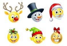 Σύνολο Emoji Χριστουγέννων Ελεύθερη απεικόνιση δικαιώματος