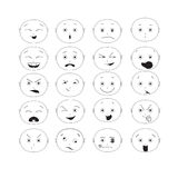 Σύνολο Emoticon Στοκ φωτογραφίες με δικαίωμα ελεύθερης χρήσης