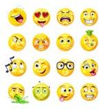 Σύνολο Emoticon Emoji Διανυσματική απεικόνιση