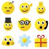 Σύνολο emoticons Στοκ Φωτογραφίες