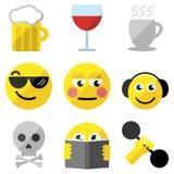 Σύνολο emoticons Στοκ Εικόνες