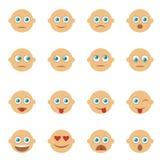 Σύνολο emoticons, emoji Εικονίδια χαμόγελου Απομονωμένο διάνυσμα Στοκ φωτογραφίες με δικαίωμα ελεύθερης χρήσης