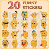 Σύνολο emoticons, emoji Στοκ Εικόνες