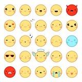 Σύνολο Emoticons Emoji Στοκ Φωτογραφίες