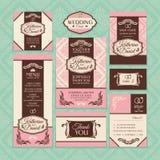 Σύνολο floral γαμήλιων καρτών απεικόνιση αποθεμάτων