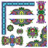 Σύνολο floral στοιχείων σχεδίου του Paisley για τη σελίδα Στοκ εικόνες με δικαίωμα ελεύθερης χρήσης