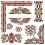 Σύνολο floral στοιχείων σχεδίου του Paisley για τη σελίδα Στοκ Φωτογραφίες
