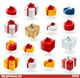 Σύνολο Giftboxes Στοκ εικόνα με δικαίωμα ελεύθερης χρήσης