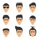Σύνολο Hairstyles Ατόμων hairstyles με διαφορετική μορφή Συλλογή των μοντέρνων μοντέρνων τύπων απεικόνιση αποθεμάτων