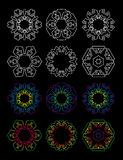 Σύνολο Hexagon εικονιδίου αστεριών 12 Στοκ Εικόνες