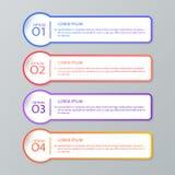 Σύνολο infographic προτύπων Στοκ Εικόνα