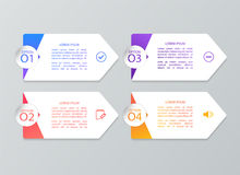 Σύνολο infographic προτύπων Στοκ εικόνα με δικαίωμα ελεύθερης χρήσης