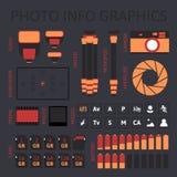 Σύνολο infographics φωτογραφιών, μέρος ένα Στοκ εικόνες με δικαίωμα ελεύθερης χρήσης