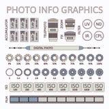Σύνολο infographics φωτογραφιών, μέρος δύο Στοκ Εικόνα