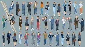 Σύνολο isometric διανυσματικών ανθρώπων Στοκ Εικόνες