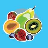 Σύνολο juicy φρούτων Στοκ φωτογραφία με δικαίωμα ελεύθερης χρήσης