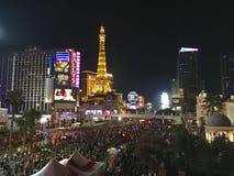 Σύνολο Las Vegas Strip των δρομέων μαραθωνίου τή νύχτα Στοκ φωτογραφία με δικαίωμα ελεύθερης χρήσης