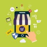 Σύνολο on-line αγορών απεικόνιση αποθεμάτων