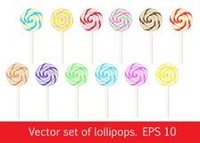 Σύνολο Lollipops Στοκ Φωτογραφίες