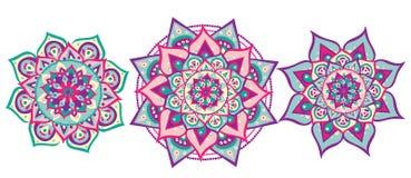 Σύνολο Mandala Στοκ εικόνα με δικαίωμα ελεύθερης χρήσης