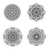 Σύνολο Mandala Στοκ φωτογραφίες με δικαίωμα ελεύθερης χρήσης