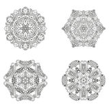 Σύνολο mandalas Διανυσματική συλλογή mandala για το σχέδιό σας Στοκ Εικόνες