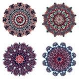 Σύνολο mandalas Διανυσματική συλλογή mandala για το σχέδιό σας Στοκ εικόνα με δικαίωμα ελεύθερης χρήσης