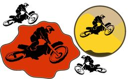Σύνολο Motorcucle ελεύθερη απεικόνιση δικαιώματος