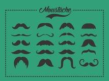 Σύνολο Moustache ελεύθερη απεικόνιση δικαιώματος