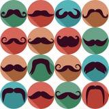 Σύνολο Moustaches Στοκ εικόνα με δικαίωμα ελεύθερης χρήσης