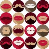 Σύνολο Moustaches Στοκ φωτογραφία με δικαίωμα ελεύθερης χρήσης