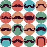Σύνολο Moustaches Στοκ Εικόνες