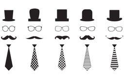 Σύνολο Mustache Στοκ Εικόνα