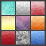 Σύνολο polygonal υποβάθρων τριγώνων Ζωηρόχρωμο πρότυπο κλίσης Στοκ φωτογραφίες με δικαίωμα ελεύθερης χρήσης