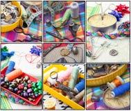 Σύνολο seamstress για τη ραπτική Στοκ Φωτογραφίες