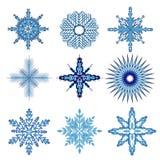 Σύνολο snow-flakes Στοκ Εικόνα