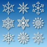 Σύνολο snowflakes διανύσματος απεικόνιση αποθεμάτων