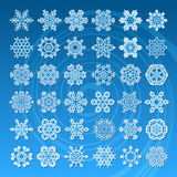 Σύνολο snowflakes Στοκ Φωτογραφία