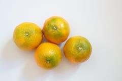 Σύνολο tangerines Στοκ εικόνες με δικαίωμα ελεύθερης χρήσης