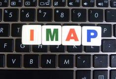 Σύντμηση IMAP στο υπόβαθρο πληκτρολογίων Στοκ φωτογραφία με δικαίωμα ελεύθερης χρήσης