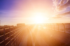 Σύνδεση αερολιμένων σιδηροδρόμων στοκ εικόνες