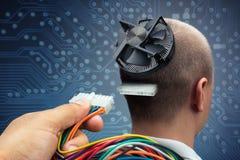 Σύνδεση με το cyborg Στοκ φωτογραφία με δικαίωμα ελεύθερης χρήσης