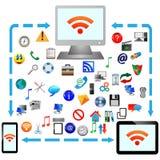 Σύνδεση στο Διαδίκτυο 25.04.13 Στοκ Εικόνα
