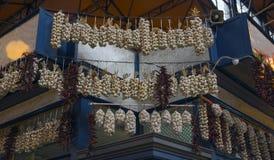 Σύνδεση του σκόρδου και του πιπεριού Στοκ φωτογραφία με δικαίωμα ελεύθερης χρήσης